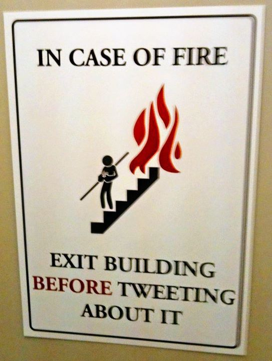 In case of fire (funny)