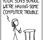xkcd 327 teaser School Computer Trouble