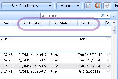 iManage FileSite's Filing Status columns: a quick tip